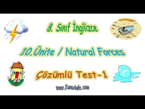 8. Sınıf İngilizce   10. Ünite   Natural Forces   Çözümlü Test-1