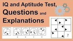 IQ and Aptitude Test Questions, Answers and Explanations