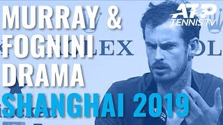 Heated Exchange Between Andy Murray And Fabio Fognini! | Shanghai 2019 Day 3
