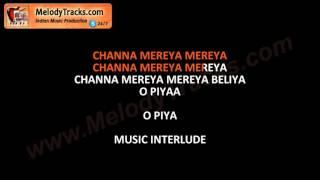 channa mereya Karaoke