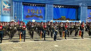 Парад Победы 2015. Песня в конце парада.