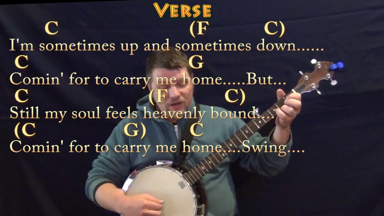 Swing Low Sweet Chariot Spiritual Banjo Cover Lesson In C With