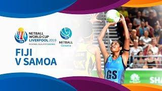 Fiji v samoa i day 5 i oceania netball world cup qualifiers