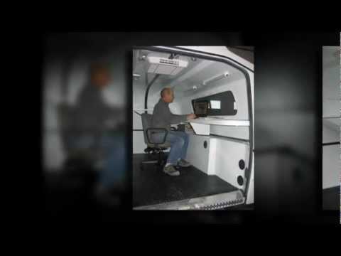 Fiber Optics Splicing Unit Master Truck Body Fiberglass