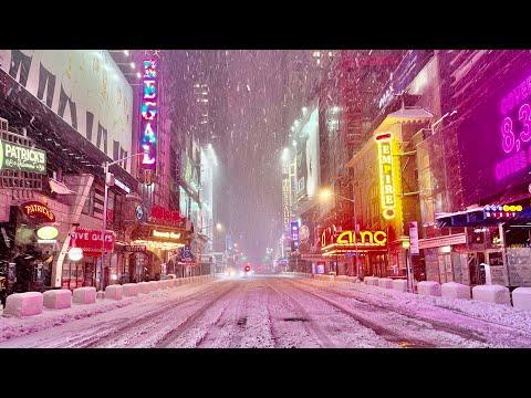 ⁴ᴷ⁶⁰ New York City's Major Snowstorm in 5 Years (December 16, 2020)