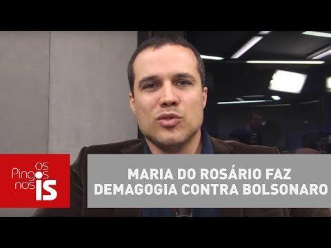 Felipe Moura Brasil: Maria Do Rosário Faz Demagogia Contra Bolsonaro