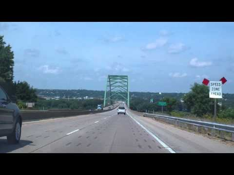 Crossing the Mississippi River - Westbound on Hwy 151