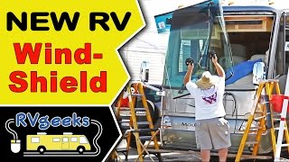 Motorhome Windshield Replacement — Installing New RV Glass Thumbnail