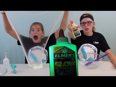 Glow in the Dark Slime!  ELMER'S Glue // Victoria_Lilee Vids
