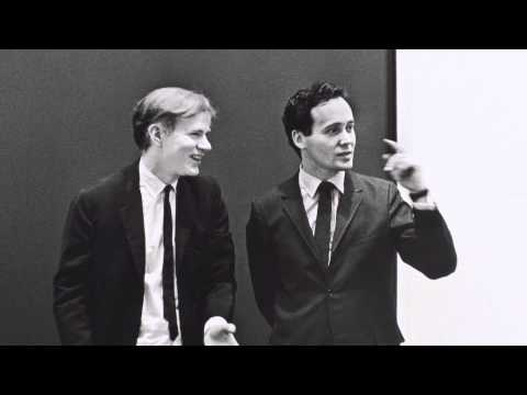 Andy Warhol and Robert Indiana at the opening of Americans 1963