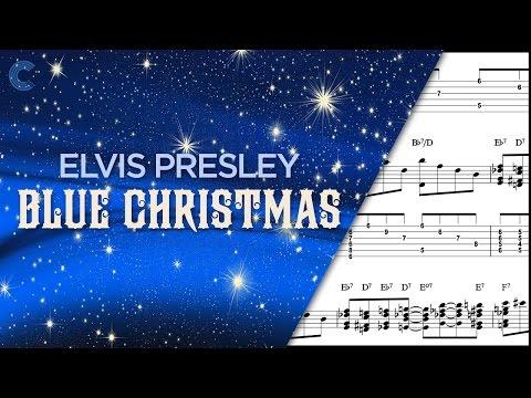 Piano - Blue Christmas - Elvis Presley - Sheet Music, Chords, & Vocals