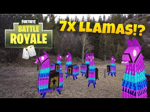 Finding 7 Loot Llamas In Real Life! (Fortnite Season 5)