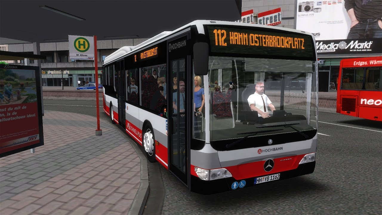 eine neue linie hamburg tag nacht linie 112 mercedes benz citaro le let 39 s play omsi. Black Bedroom Furniture Sets. Home Design Ideas