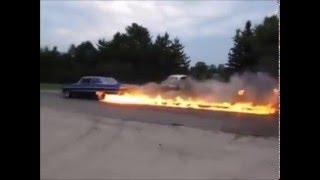 Chevrolet Impala 1964 Fire Burnout