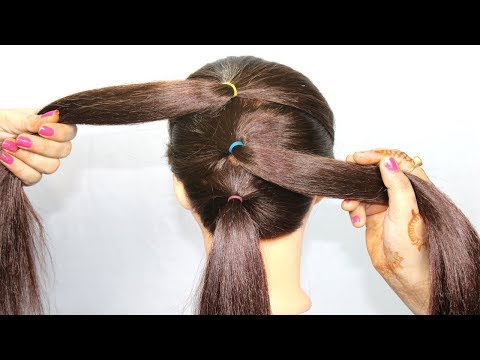 messy bun hairstyle with trick   easy hairstyles   simple hairstyles   hair style girl   hairstyle thumbnail