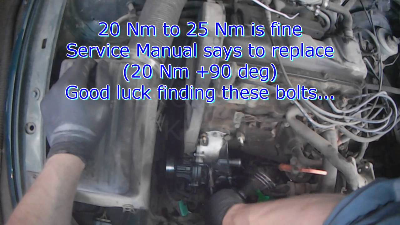 medium resolution of vw a3 1 8l acc water pump replacement