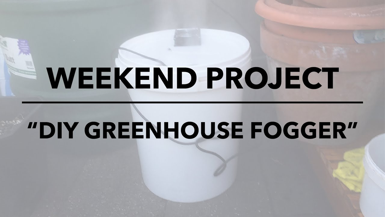 Weekend project: diy greenhouse fogger - YouTube