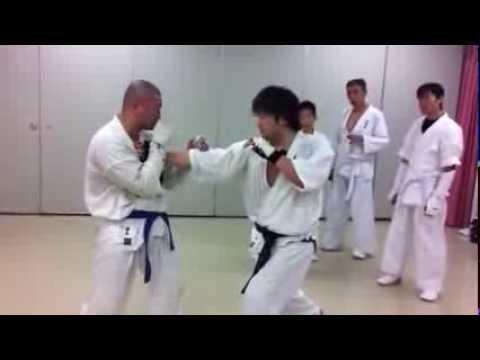 起こりが見えず反応しても避けきれない突き Inevitable attack of Karate