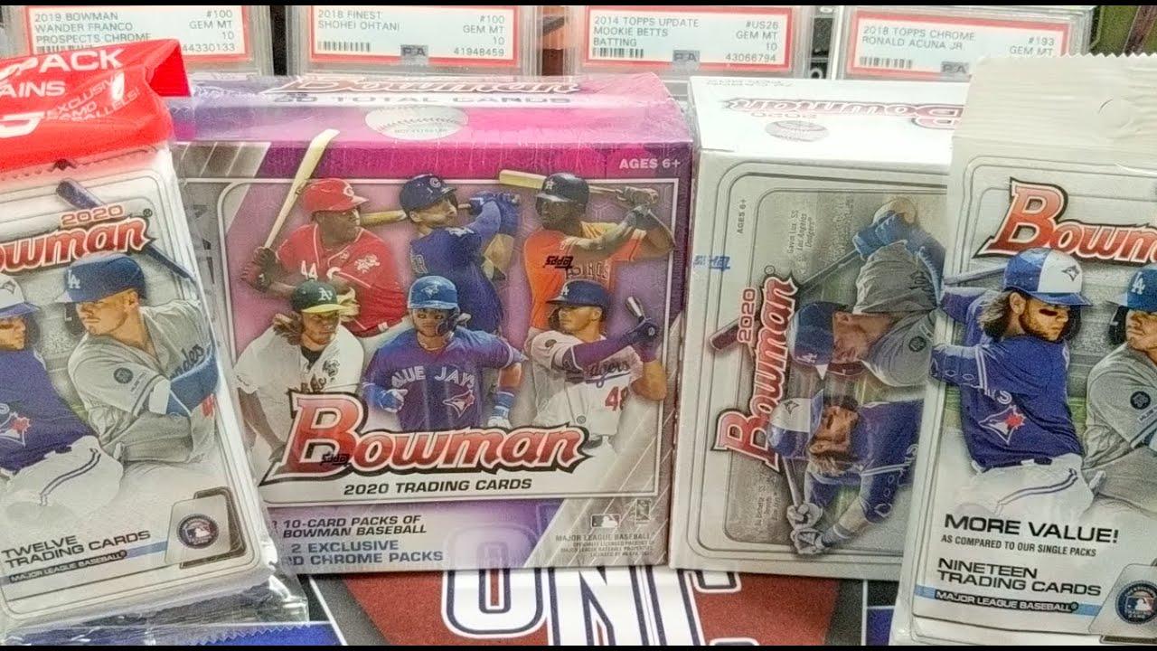 2020 Bowman Baseball Retail Break 1 Mega Box 1 Blaster 1 Hanger Box & 2 Value Packs!