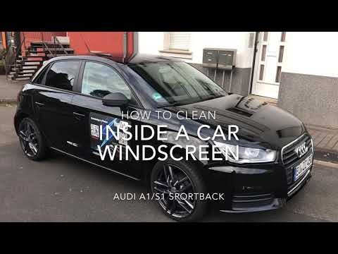 How to clean inside a car windscreen glass wash with methylated spirit Audi A1/S1 Sportback DIY