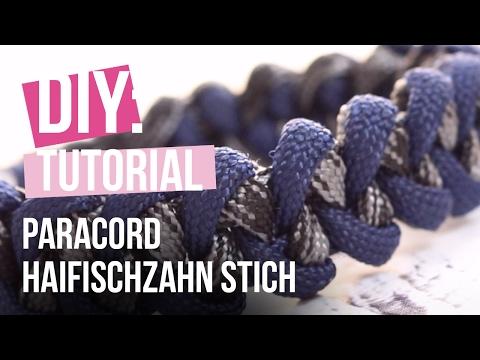 DIY TUTORIAL – Paracord Armband mit Haifischzahn Stich – Selbst Schmuck machen
