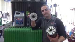 John Deere 9430T Bypass engine oil filtration installation