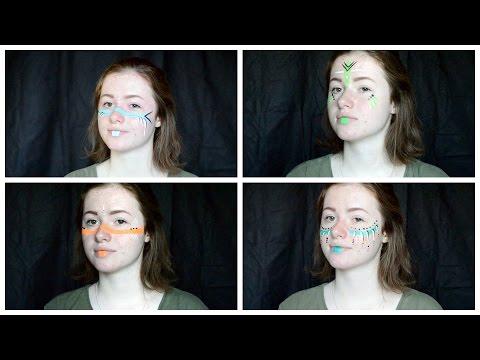 Neon Festival Face Paint Looks