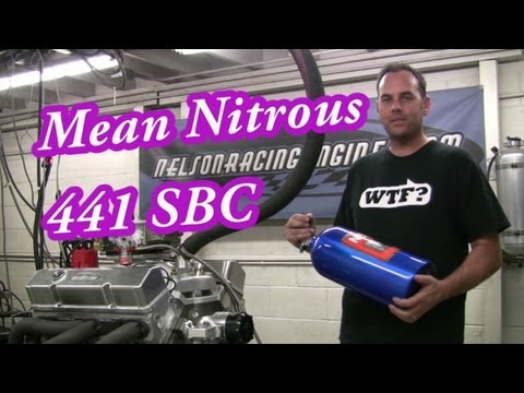 Explosive Nitrous 441CI(7.2L) SBC Demonstration from Nelson Racing Engines.  NRE. Camaro, Chevelle.
