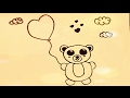 ART LESSON 147: HOW TO DRAW CARTOON Teddy Bear With Heart STEP BY STEP - FOR BEGINNERS