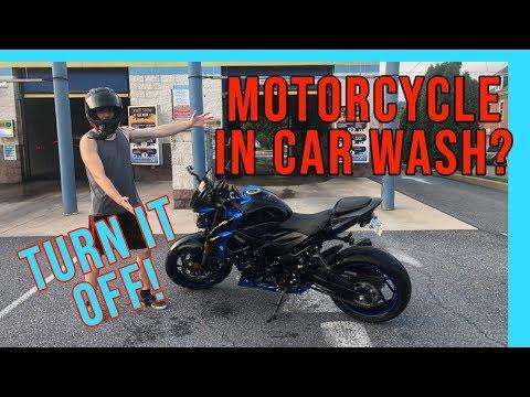 What happens when you take a bike to a car wash?