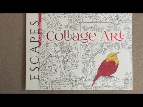 Artists Coloring Book Pepin : Escapes collage art coloring book adult flip through