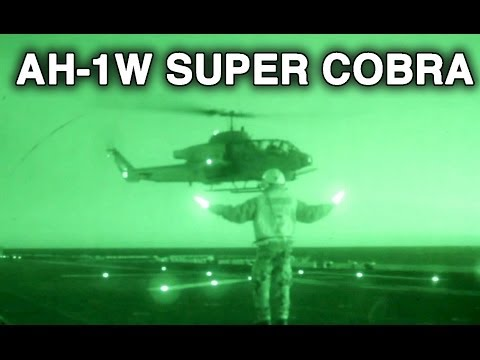 AH-1W Super Cobra Night Landing And Takeoff From The USS Kearsarge