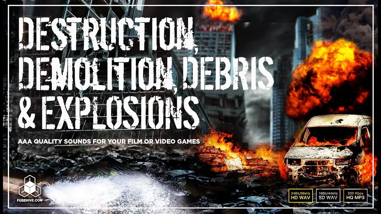 Urban Cinematic Destruction, Demolition, Debris and Explosions Sound  Effects Library - Royalty Free