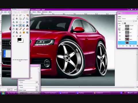 virtual tuning gimp cartoon car youtube. Black Bedroom Furniture Sets. Home Design Ideas