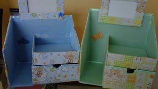 Novedades: Organizador hecho de cartón para bebés / ♥