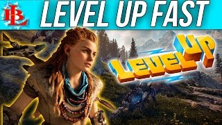 Horizon Zero Dawn FASTEST WAY TO LEVEL UP and FARM MATERIALS - POWER LEVEL