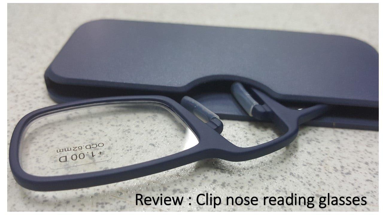 389e88a3d1d Review - Clip Nose Reading Glasses - YouTube