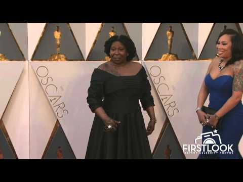 Whoopi Goldberg arrives at the 2016 Oscars in Hollywood