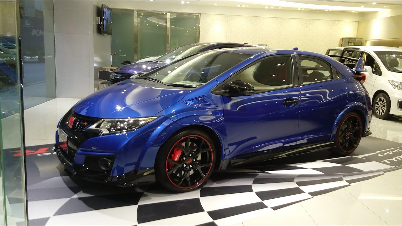 2015 Honda Civic Type R FK2 (blue) - YouTube