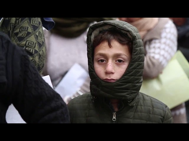 BCF in collaboration with UNICEF distributes winter clothes to the refugee children