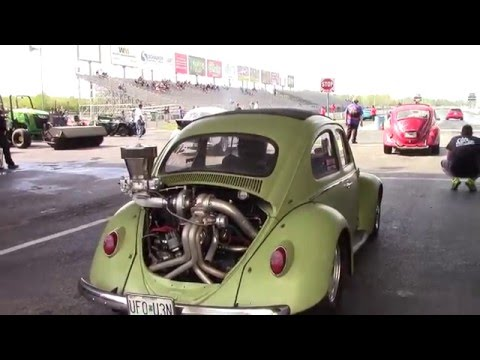 Turbo Charged Air Cooled VW Beetle's at 2016 Import Faceoff