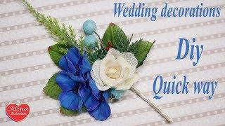 Бутоньерка для Жениха. Быстрый способ. МК. How to Wedding decorations. Man style. DIY