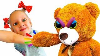 Ястася и Медведь - весёлая история и сказка для детей