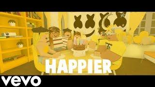Happier - Marshmello (ROBLOX Music Video 2019!)