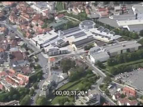 Shoppingcenter Rotmain-Center im Stadtzentrum von Bayreuth in Bayern