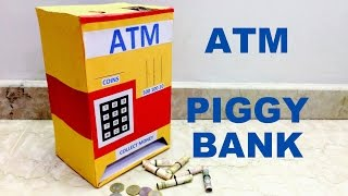How to make Piggy Bank ATM machine at home