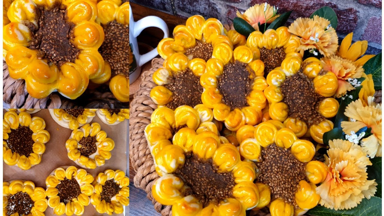 فطاير الوردة بالزعتر بعجينة قطنية هشة