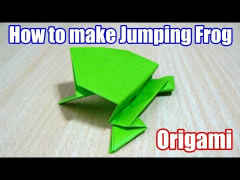 How to make Jumping frog. Origami. The art of folding paper.