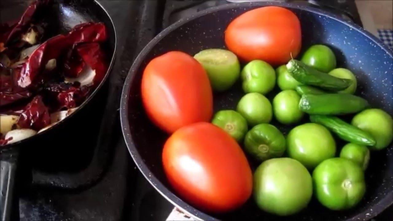 Salsa combinada de tomate y jitomate youtube - Salsa de tomate y nata ...
