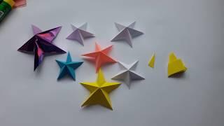 Объемная звезда из бумаги как вырезать звезду объемные снежинки новогодние игрушки своими руками